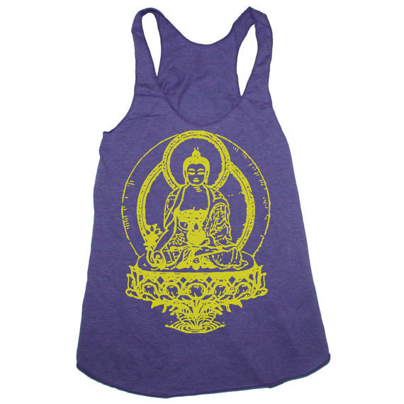 Womens BUDDHA american apparel TriBlend Racerback by happyfamily