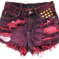 70% SALE Studded shorts XS