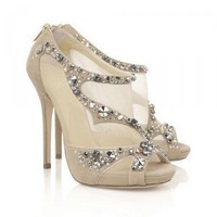 Pashm Apricot Embellished Sandals [TQL120305021] - $62.49 : wedding fashion, wedding dress, bridal dresses, wedding shoes