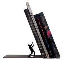 ARTORI Design &quot;Falling Books&quot; Falling Bookend Metal Bookend 1 Pcs Black
