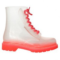Jelly Pink Rubber 8-Eye Classic Rain Boot