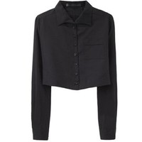 Proenza Schouler Cropped Button Front Shirt