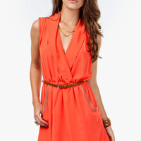 A'GACI Studded Surplice Wrap Dress - DRESSES