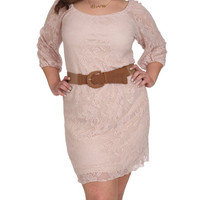 Belted Lace Peasant Dress | Shop Jr. Plus at Wet Seal
