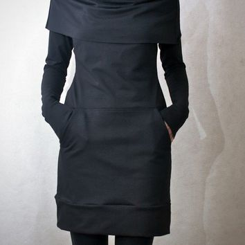 Cowl Neck Pocket Tunic MADE TO ORDER