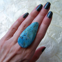 Turquoise Statement Ring by VictoryJewelry