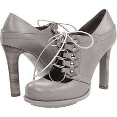 Alexander McQueen Lace Up Shoe Grey Leather - 6pm.com