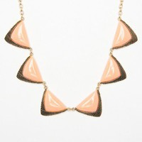 Dasha Necklace in Peach - ShopSosie.com