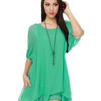 Lucy Love Gabriella Dress - Mint Dress - 60s Dress - &amp;#36;73.00