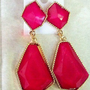 Crystal irregular geometric shaped earrings - Earrings