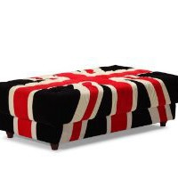 Zuo Union Jack Ottoman, Red/White and Black