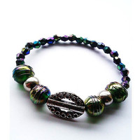 Green-Purple-Blue Luminous Stretch Bracelet