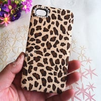 Handmade Leopard Print Cloth Phone Case For iPhone 4/4S