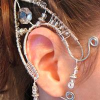 Pair of Elf Ear Cuffs non pierced earring by jhammerberg on Etsy