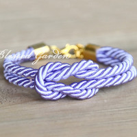 bracelet,sailor knot bracelet, navy bracelet,purple bracelet, god's gift,bridesmaid bracelet