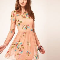 ASOS | ASOS Skater Dress With Embellishment at ASOS