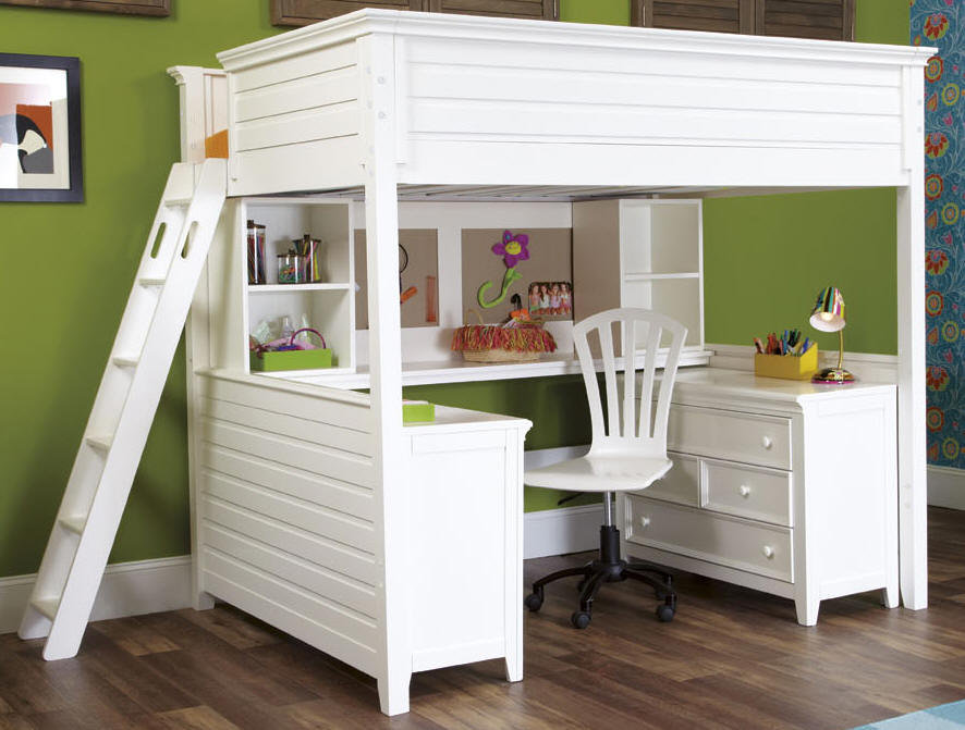 Dixie Twin Size Loft Bed from Totally Kids fun furniture & toys