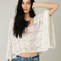 Free People Lace Cropped Kaftan