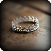 SALE - Crown ring 01 - sterling silver ring (As seen on Regretsy, haha) - 20% off