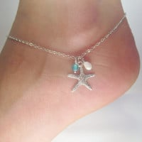 20% OFF SHOP SALE Starfish adjustable anklet