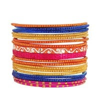 Set of 18 Glittered Bangles | FOREVER21 - 1015035465