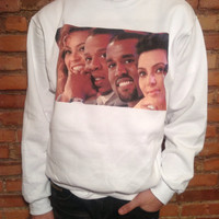 Beyonce Jay Z Kanye West Kim Kardashian Sweatshirt - Limited Print - All Sizes Exclusive KIMYE 1 of 500 - Item: 007 562WHI