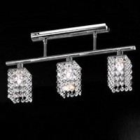 LightInTheBox 3 Light Hanging Crystal Linear Chandelier with Solid Metal Fixture