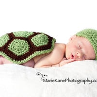 Turtle Photo Prop Newborn by MySweetPotato3 on Etsy