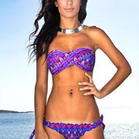 Purple print bikini from Emma Swimwear