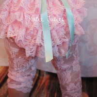 Pink, Lace Diaper Cover, Aqua, Satin, rolled, bow, handmade Flowers, bloomers, newborn, baby girl, toddler, birthday, cake smash
