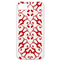 iPhone 5 red and snow white pattern case iPhone 5 Cases from Zazzle.com