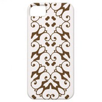 iPhone 5 snow white and otter brown pattern case iPhone 5 Case from Zazzle.com