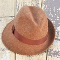 Assymetry Felt Hat - $28.00: From ourchoix.com, this well-crafted rich camel-colored hat is perfect for any season.