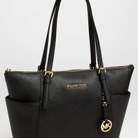MICHAEL Michael Kors &#x27;Jet Set&#x27; Leather Tote | Nordstrom