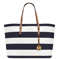 MICHAEL Michael Kors  Medium Jet Set Striped Travel Tote - Michael Kors
