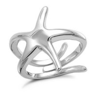 Amazon.com: Sterling Silver Large Starfish Ring: Jewelry