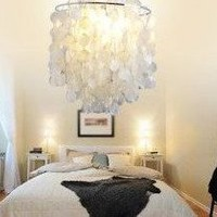 White Shell Pendant Chandelier