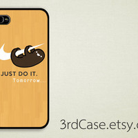 Case iPhone 4 Case iPhone 4s Case iPhone 5 Case sloth just do it