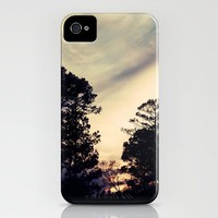 Pine Trees Silhouetted at Sunset iPhone Case by Erin Johnson | Society6