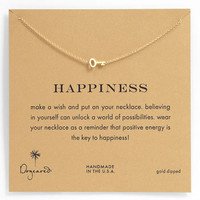 Dogeared 'Whispers - Happiness' Boxed Pendant Necklace