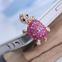 Amazon.com: Dust Plug- Earphone Jack Accessories Crystal Lovely Pink Turtle/ Cell Charms / Ear Jack for Iphone 4 4s / Ipad / Ipod Touch / Other 3.5mm Ear Jack (With Cutely Gift Box): Cell Phones & Accessories