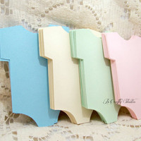 18 Die Cut Baby Onesuit Tags Your Choice Color