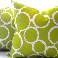 Trina Turk Parrot sunglass print, Apple green Pillow Cover 20""
