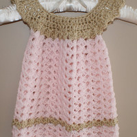 Pink Baby Girl Dress, Baby Clothes, Girl Clothing, Child frock, Crochet Baby Dress, Infant Easter Dress, Spring Baby Dress