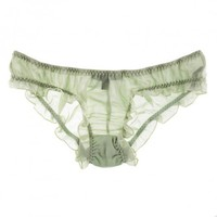 Buy La Fee Verte Luxury Lingerie - La Fee Verte Silk Chiffon panty  | Journelle Fine Lingerie