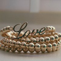 Stackable Gold Love Bracelet