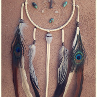 The Dream Catcher ... personalized zodiac stone dream catcher for your loved one // 5 inch diameter