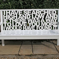 personalised wooden bench by cut by fire | notonthehighstreet.com