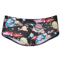 Galactic Planet Print Cheeky Pants