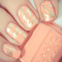 Pretty Peach & Gold